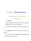 Giáo án đại số 12: KIỂM TRA CHƯƠNG II:  Môn : GIẢI TÍCH 12 ( NÂNG CAO )