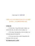 Giáo án đại số 12: BÀI TẬP  PHÉP VỊ TỰ VÀ SỰ ĐỒNG DẠNG CỦA CÁC KHỐI ĐA DIỆN - CÁC KHỐI ĐA DIỆN ĐỀU