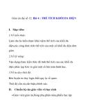 Giáo án đại số 12: Bài 4. THỂ TÍCH KHỐI ĐA DIỆN
