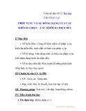 Giáo án đại số 12: PHÉP VỊ TỰ VÀ SỰ ĐỒNG DẠNG CỦA CÁC KHỐI ĐA DIỆN - CÁC KHỐI ĐA DIỆN ĐỀU
