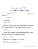 Giáo án đại số 12: THỂ TÍCH KHỐI ĐA DIỆN