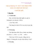 Giáo án 10 nâng cao: GIÁ TRỊ LƯƠNG GIÁC CỦA MỘT GÓC BẤT KỲ