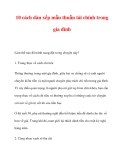 10 cách dàn xếp mẫu thuẫn tài chính trong gia đình