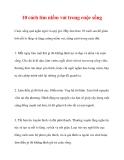 10 cách tìm niềm vui trong cuộc sống