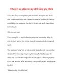 10 cách xả giận trong đời sống gia đình