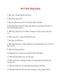 49 Cách sống khỏe