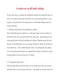 5 cách cư xử dễ mất chồng