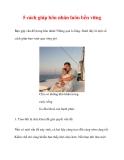 5 cách giúp hôn nhân luôn bền vững