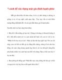 7 cách để xây dựng một gia đình hạnh phúc