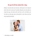Bí quyết để hôn nhân bền vững