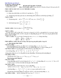 ôn thi môn toán năm 2011_ số 6