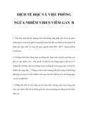 DỊCH TỂ HỌC VÀ VIỆC PHÒNG NGỪA NHIỄM VIRUS VIÊM GAN B