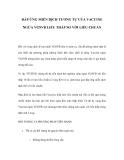 ĐÁP ỨNG MIỄN DỊCH TƯƠNG TỰ CỦA VACCINE NGỪA VGSVB LIỀU THẤP SO VỚI LIỀU CHUẨN