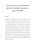 TÁC DỤNG PHỤ CỦA ALFA INTERFERON TRONG QUÁ TRÌNH ÐIỀU TRỊ VIÊM GAN SIÊU VI MÃN TÍNH