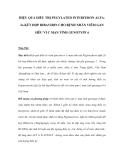 HIỆU QUẢ ĐIỀU TRỊ PEGYLATED INTERFERON ALFA2a KẾT HỢP RIBAVIRIN CHO BỆNH NHÂN VIÊM GAN SIÊU VI C MẠN TÍNH GENOTYPE 6