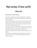 Đại cương về hen suyễn - Phần III