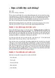 Bạn có biết đọc sách không ?