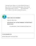 Mẫu chứng nhận thủy sản khai thác theo Thông tư số 28
