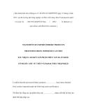 MẪU XÁC NHẬN CAM KẾT SẢN PHẨM THỦY SẢN XUẤT KHẨU  CÓ NGUỐC GỐC TỪ THỦY SẢN KHAI THÁC NHẬP KHẨU