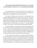 Phân tích diễn biến tâm trạng và cuộc đời của Tnú trong tác phẩm Rừng xà nu