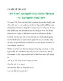 """CHUYÊN ĐỀ VĂN HỌC """"Đất Nước"""" của Nguyễn Khoa Điềm & """"Rừng xà nu"""" của Nguyễn Trung Thành_2"""