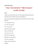 """Chuyên đề văn học """"Sóng"""" Xuân Quỳnh & """"Nhật kí trong tù"""" của Hồ Chí Minh_1"""