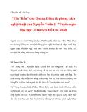 """Chuyên đề văn học  """"Tây Tiến"""" của Quang Dũng & phong cách nghệ thuật của Nguyễn Tuân & """"Tuyên ngôn Độc lập""""_2"""