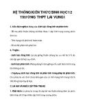 HỆ THỐNG KIẾN THỨC SINH HỌC 12 TRƯỜNG THPT LAI VUNG I_4