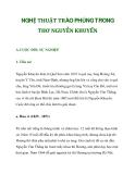 NGHỆ THUẬT TRÀO PHÚNG TRONG THƠ NGUYỄN KHUYẾN_1