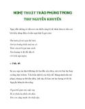 NGHỆ THUẬT TRÀO PHÚNG TRONG THƠ NGUYỄN KHUYẾN_2