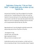 """Nghị luận về đoạn thơ """"Chị em Thuý Kiều"""" và nghệ thuật miêu tả nhân vật của Nguyễn Du_1"""