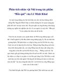 """Phân tích nhân vật Nhĩ trong tác phẩm """"Bến quê"""" của Lê Minh Khuê"""