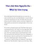 Tài liệu: Thơ chữ Hán Nguyễn Du Nhật ký tâm trạng