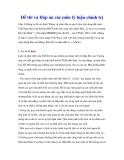 Đề thi và Đáp án các môn lý luận chính trị