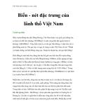 Việt Nam môi trường và cuộc sống - Phần 6