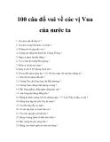 100 câu đố vui về các vị Vua của nước ta