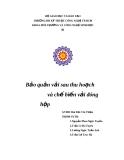 Báo cáo: Bảo quản vải sau thu hoạch và chế biến vải đóng hộp