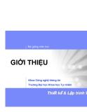 Bài giảng môn học: GIỚI THIỆU  Thiết kế & Lập trình WEB 2
