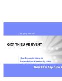 Bài giảng môn học: GIỚI THIỆU VỀ EVENT