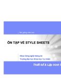 Bài giảng môn học: ÔN TẬP VỀ STYLE SHEETS
