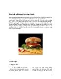 Bài thực hành hambuger