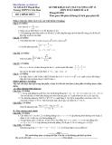 Đề thi khảo sát chất lượng Toán lớp 12