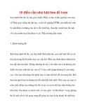 10 điều cần nhớ khi làm đề toán