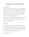 20 bí quyết học và luyện thi TOEIC