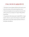 25 lưu ý khi thi trắc nghiệm ĐH CĐ