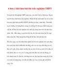 6 lưu ý khi làm bài thi trắc nghiệm THPT