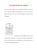 Cách làm bài thi trắc nghiệm