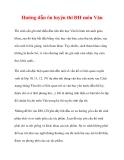 Hướng dẫn ôn luyện thi ĐH môn Văn