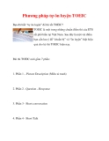 Phương pháp tự ôn luyện TOEIC