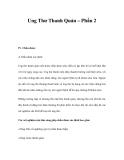 Ung Thư Thanh Quản – Phần 2